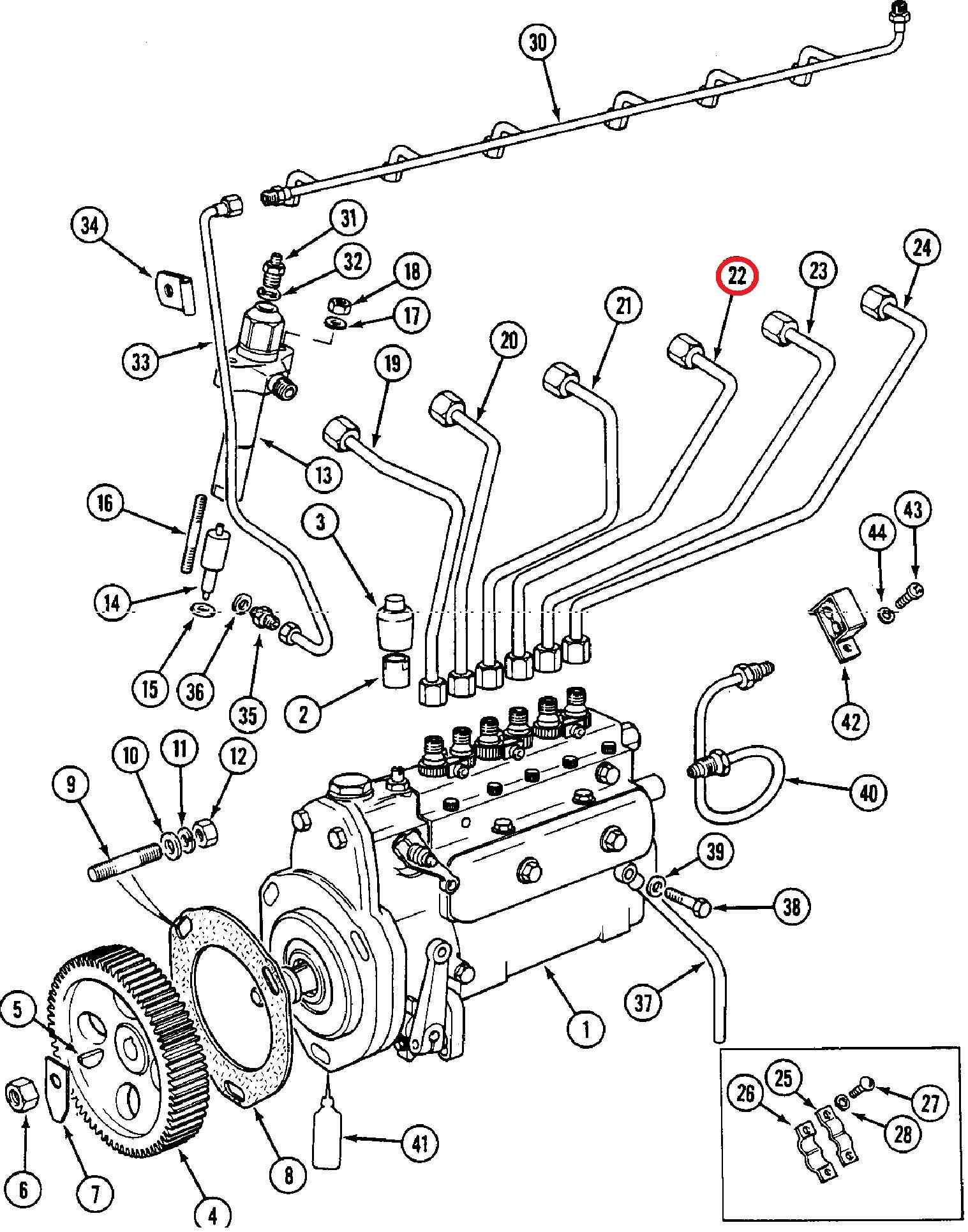 new part - parts david brown - engine - oil system